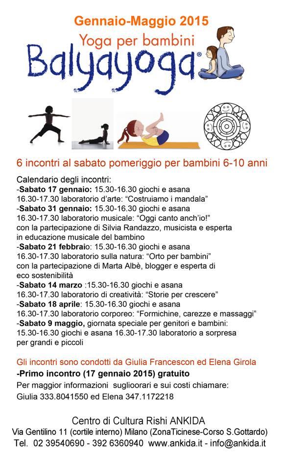 corso yoga per bambini milano